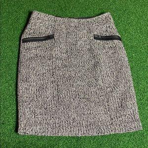 Tweed Zipper Skirt